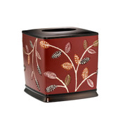 Aubury Tissue Box - Burgundy from Popular Bath