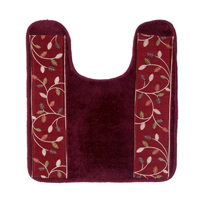 Aubury contour rug from Popular Bath - Burgundy