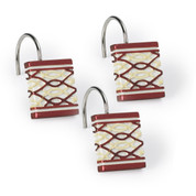 Harmony Shower Curtain Hooks - Burgundy (set of 12) from Popular Bath