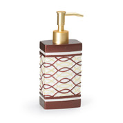 Harmony Lotion Dispenser - Burgundy lotion dispenser from Popular Bath