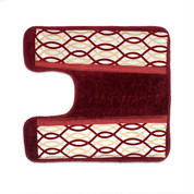 Harmony contour rug from Popular Bath - Burgundy