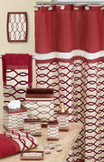 Harmony Shower Curtain & Bathroom Accessories - Burgundy from Popular Bath