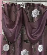 Avanti Shower Curtain - Purple with valance (hooks not included) from Popular Bath