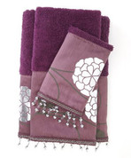 Avanti 3 piece towel SET - Purple from Popular Bath