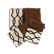 Harmony Chocolate 3 piece towel SET  from Popular Bath