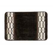 Harmony Bath Rug from Popular Bath - Chocolate