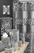 Sinatra Shower Curtain & Bathroom Accessories from Popular Bath