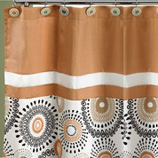 Suzani Shower Curtain - Gold from Popular Bath (shower hooks not included)