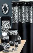 Mosaic Shower Curtain & Bathroom Accessories - Black from Popular Bath