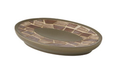 Mosaic Soap Dish - Bronze