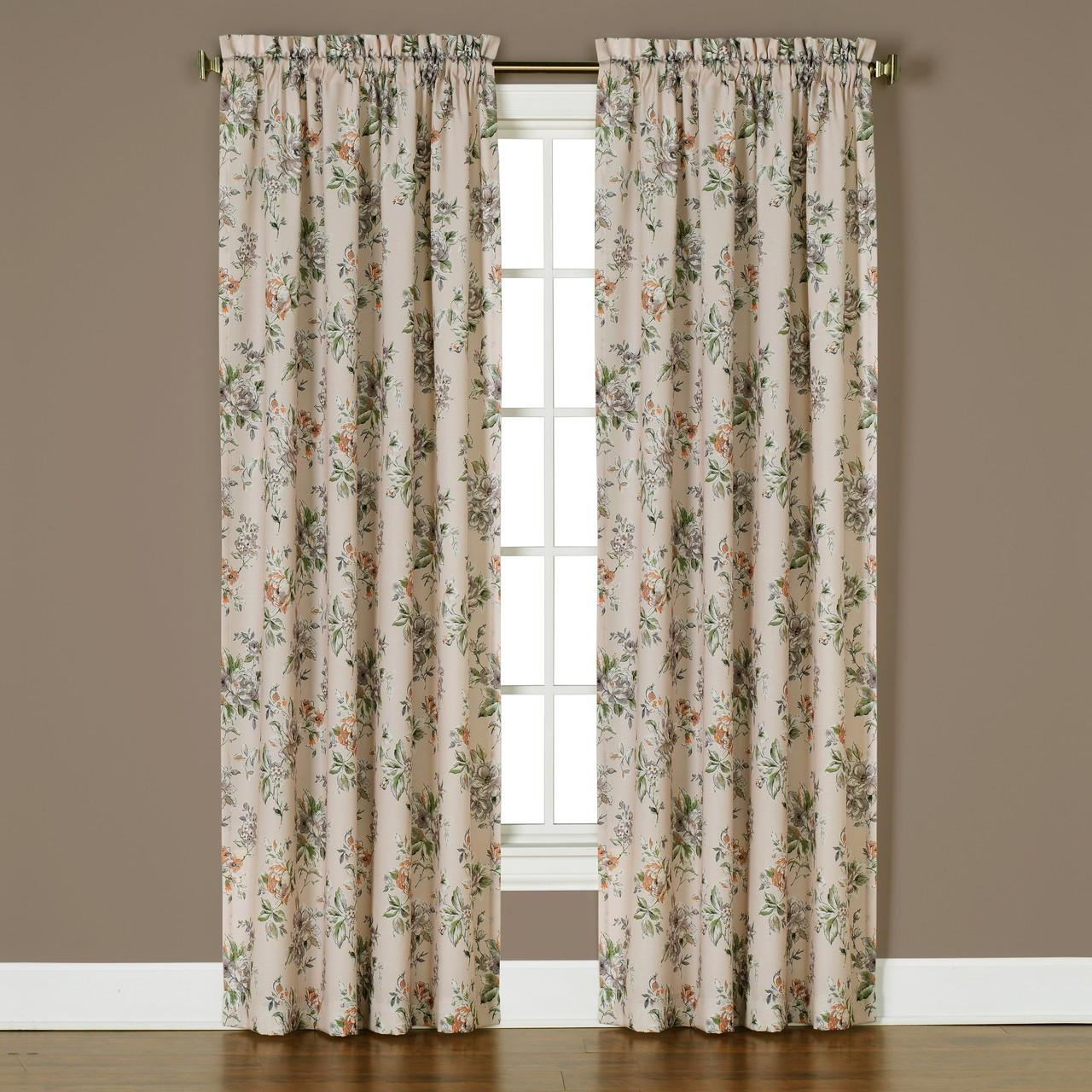 Nellie rose rod pocket curtains 2 panels shown