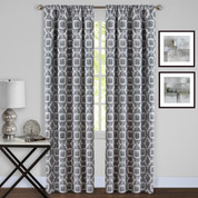 Tara Room Darkening Rod Pocket Curtains - Charcoal from Achim