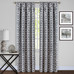 Tara Room Darkening Rod Pocket Curtains - Charcoal from Achim