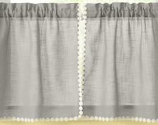 "Andrea 24"" kitchen curtain tier - Gray"