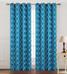 Kimberly Grommet Top Curtain Panel - Aqua