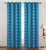 Kimberly Grommet Top Curtain Panel - Aqua