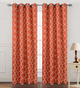 Kimberly Grommet Top Curtain Panel - Orange