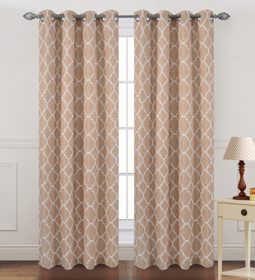 Kimberly Grommet Top Curtain Panel - Taupe