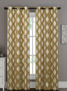 Marquis Grommet Top Curtain Pair - Gold