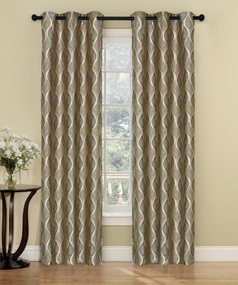 Calcutta Grommet Top Curtain Pair - Chocolate