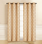 Lisbon Grommet Top Curtain Pair - Gold