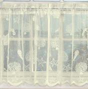 Reef Seashells lace valance - Ivory
