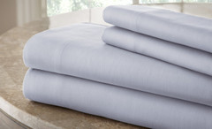 200 Thread Count Solid Sheet Set 100% cotton - Ice Blue