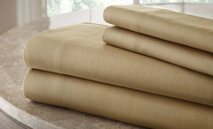 200 Thread Count Solid Sheet Set 100% cotton - Taupe