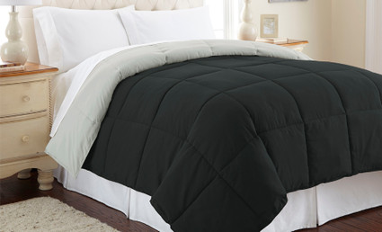Alt Down Reversible Comforter -Anthracite/Silver