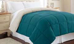 Alt Down Reversible Comforter - Blue Coral/Oatmeal