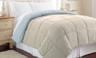 Alt Down Reversible Comforter - Oatmeal/Dusty Blue