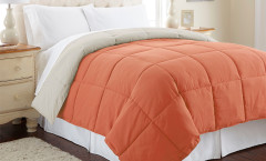 Alt Down Reversible Comforter - Orange Rust/Oatmeal