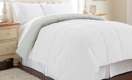 Alt Down Reversible Comforter - White/Grey