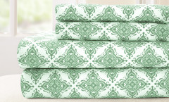200 Thread Count Printed Sheet Set 100% cotton - Casablanca Sage