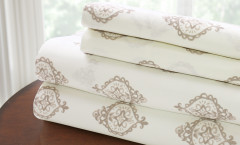 200 Thread Count Printed Sheet Set 100% cotton - Medallion Stone