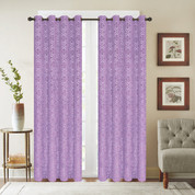 Viola Velour Grommet Top Curtain Panel - Lilac