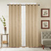 Gabriella Blackout Grommet Top Curtain Panel - Gold