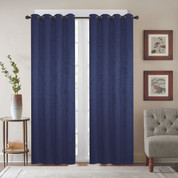 Gabriella Blackout Grommet Top Curtain Panel - Navy