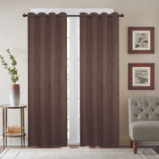 Gabriella Blackout Grommet Top Curtain Panel - Chocolate