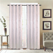 Gabriella Blackout Grommet Top Curtain Panel - Silver