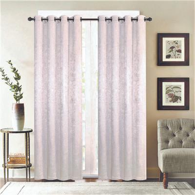 Gabriella Blackout Grommet Top Curtain Panel - Silver