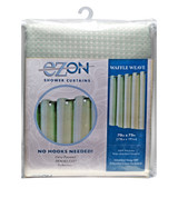 Waffle Weave Hookless Fabric Shower Curtain with Liner - Celadon Green