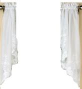 Laurel kitchen curtain swag - White