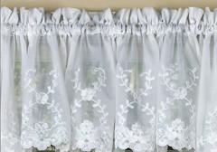 Laurel kitchen curtain valance - White
