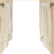 Laurel kitchen curtain swag - Ivory
