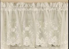 Laurel kitchen curtain valance - Ivory