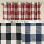 Courtyard Plaid Grommet Top Valance