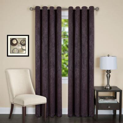Jensen Blackout Grommet Top Curtain Panel - Chocolate