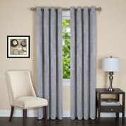 Jensen Blackout Grommet Top Curtain Panel - Silver