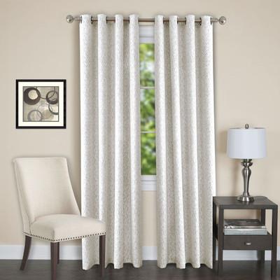 Jensen Blackout Grommet Top Curtain Panel - White